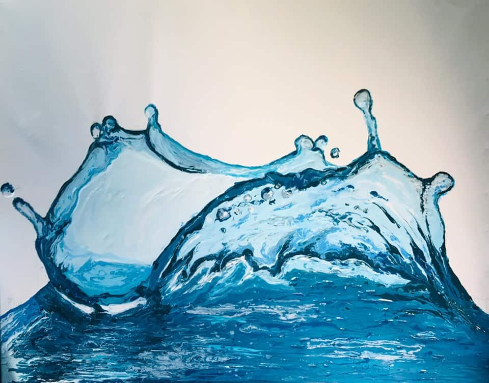 Acrylic Pouring Water