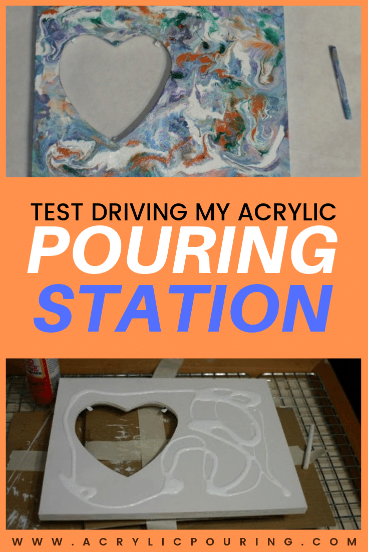 Test Driving my Acrylic Pouring Station