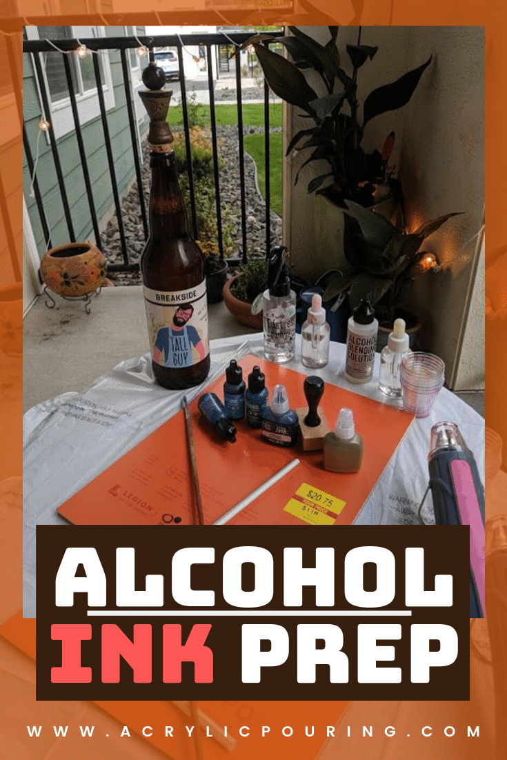 Prepping the Perfect Alcohol Ink Art Station