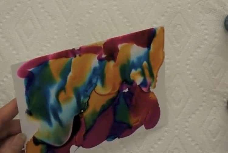 drop pour tilt technique alcohol ink