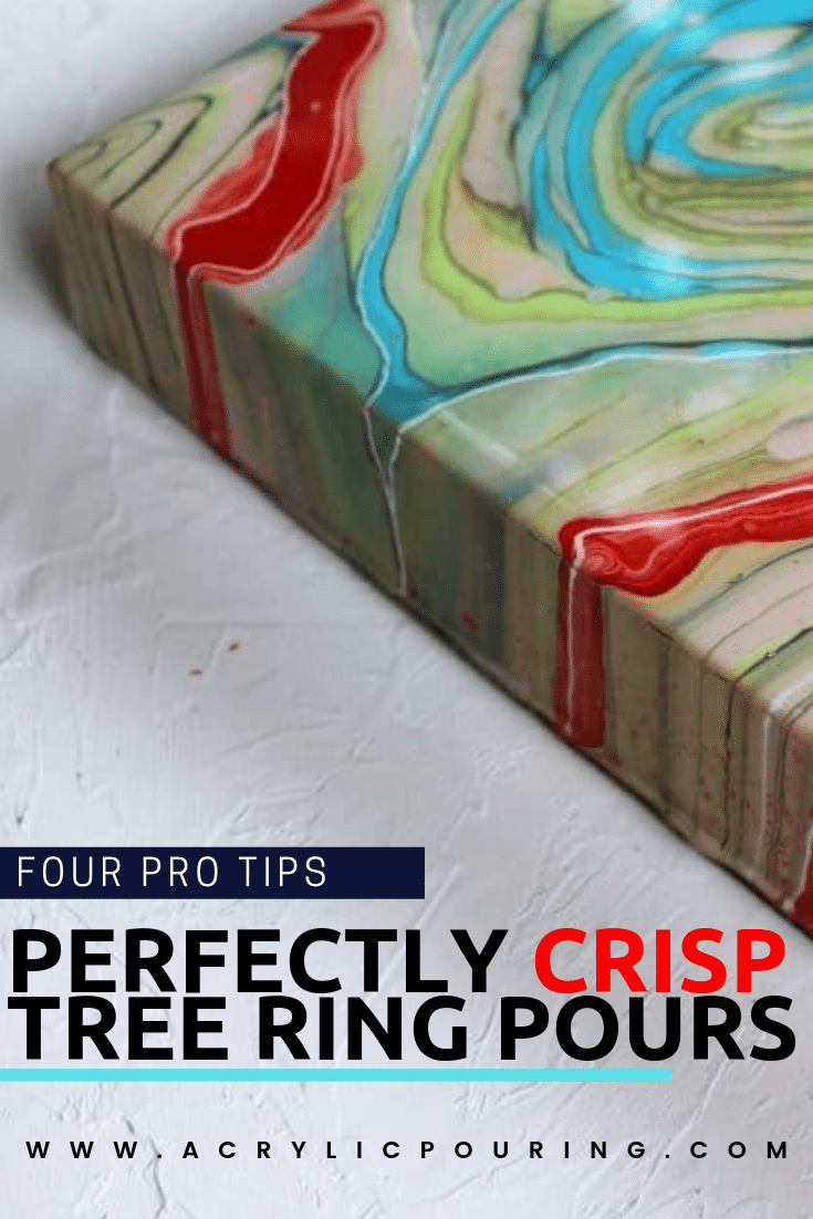 earn how to make perfectly crisp tree ring pours from pro tips. #acrylicpouring #treeringpour #technique #art #creativity #fluidart #fluidpainting #acrylicforbeginners #acrylics #protips #artists #artiststips | acrylic pouring tips and tricks, pro artists' tips, acrylic pouring inspiration, acrylic pouring for beginners