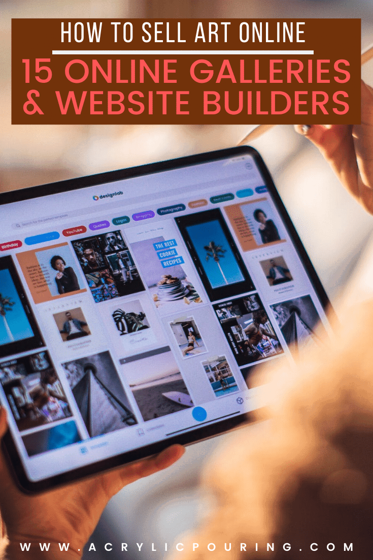 Finding the best online galleries and website builders are a great help for artists and creatives. There are so many ways to get started, and it's not as overwhelming as you may think! Check out our lists to make it easy for you to start selling your art online. The first is a list of our favorite online art marketplaces, and the second is a list of the top artist website platforms we personally recommend. #acrylicpouring #fluidart #fineart #artgalleries #guide #helpfultips