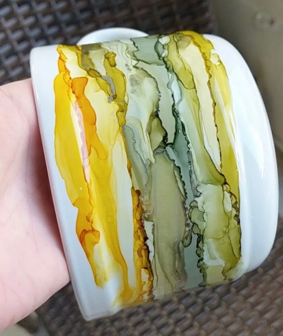 Alcohol Inks, Soup Mug, Coffee Mug