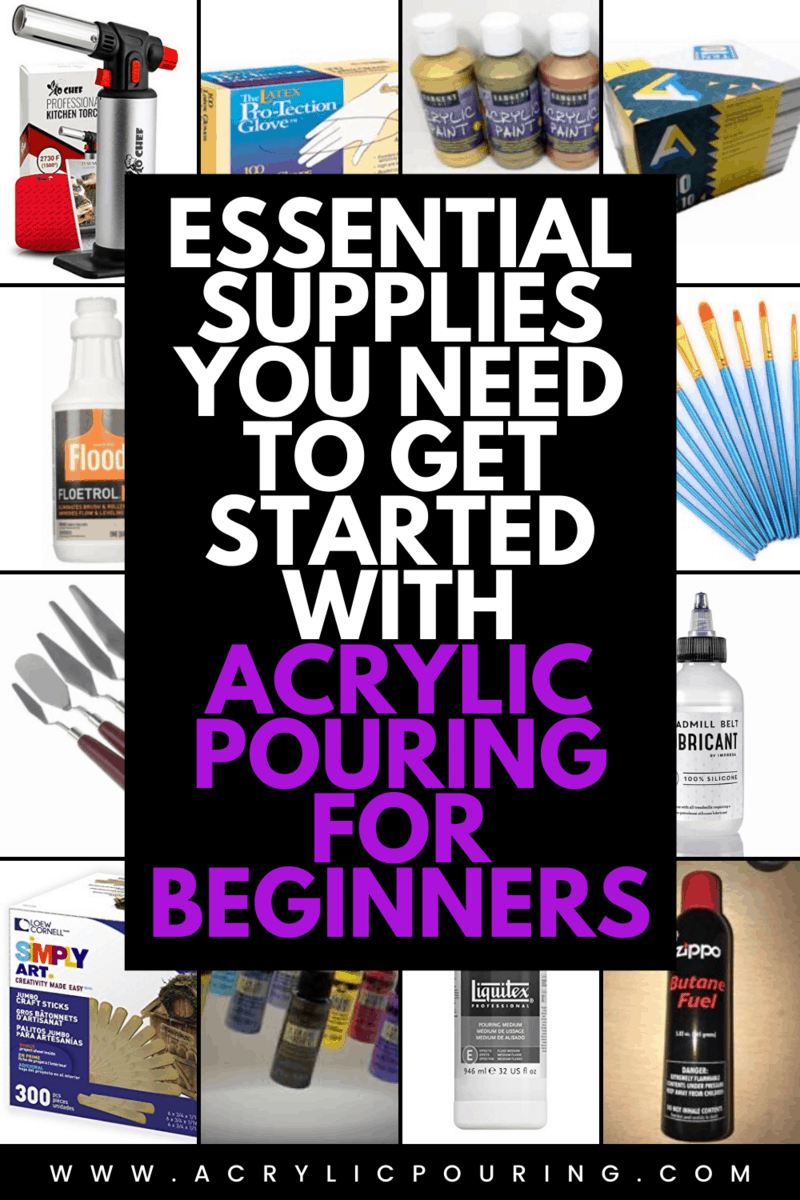 Have a perfect start in acrylic pouring by getting the essential supplies you need for a beginner. #acrylicpouring #pouringessentials #acrylicsupplies #beginnersguide