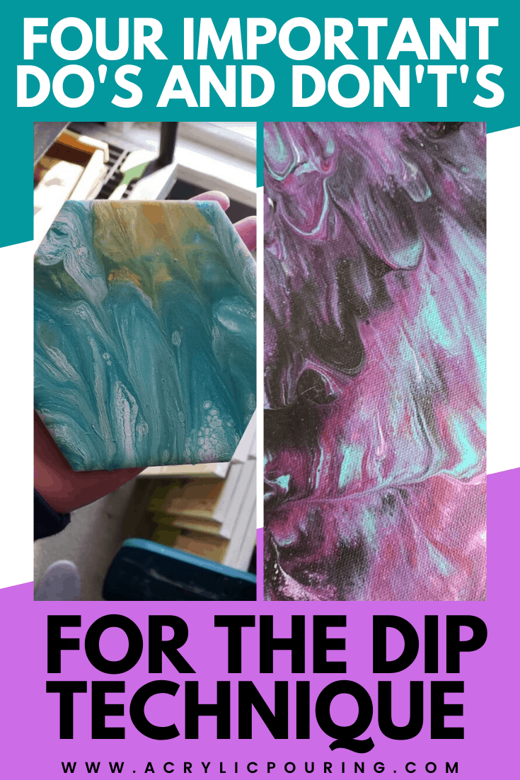 "There are a few ways to create masterpiece using dip technique, but the principle is essentially the same; dips are created by pressing or ""dipping"" your pouring surface into your acrylic paint mixture, rather than pouring the mixture directly on. Using this technique, you can create unique patterns within a piece with beautiful cells. Explore more about the beauty of acrylic pouring dip technique by learning the four do\'s and don\'ts.  #acrylicpouring #dippouring #acrylicpouringtecniqu..."