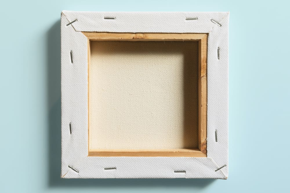 how to frame a canvas painting unstretched