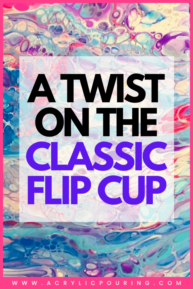 Check out how you can do the classic acrylic pouring technique: flip and drag style. You can get more paint around that bigger canvas and create smooth cells of different sizes. #acrylicpouring #pouringcontest #acrylictwist #flipcup