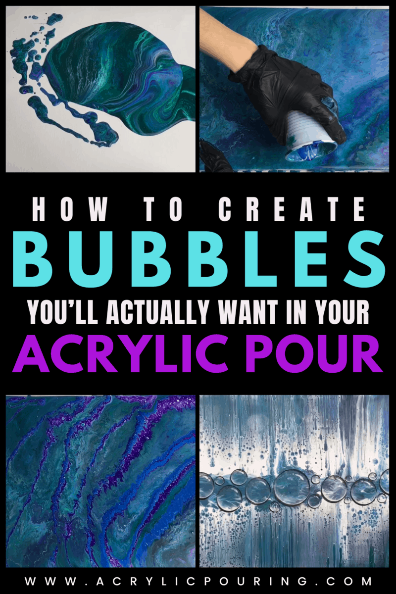 How to Add 3D Water Droplets in Your Acrylic Pour