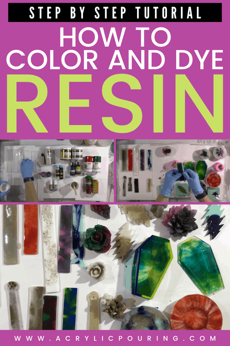 How to Color and Dye Resin: Step by Step Tutorial (Video)