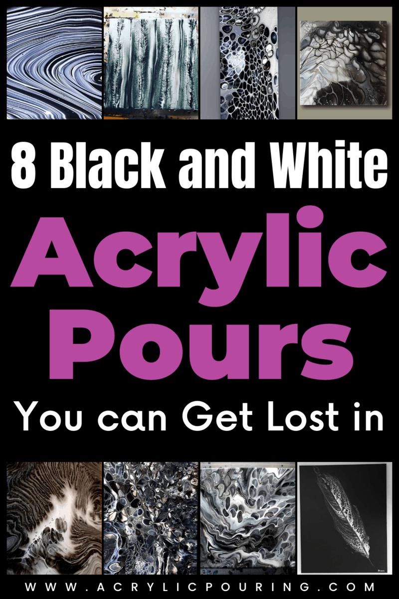 8 Black and White Acrylic Pours You can Get Lost in