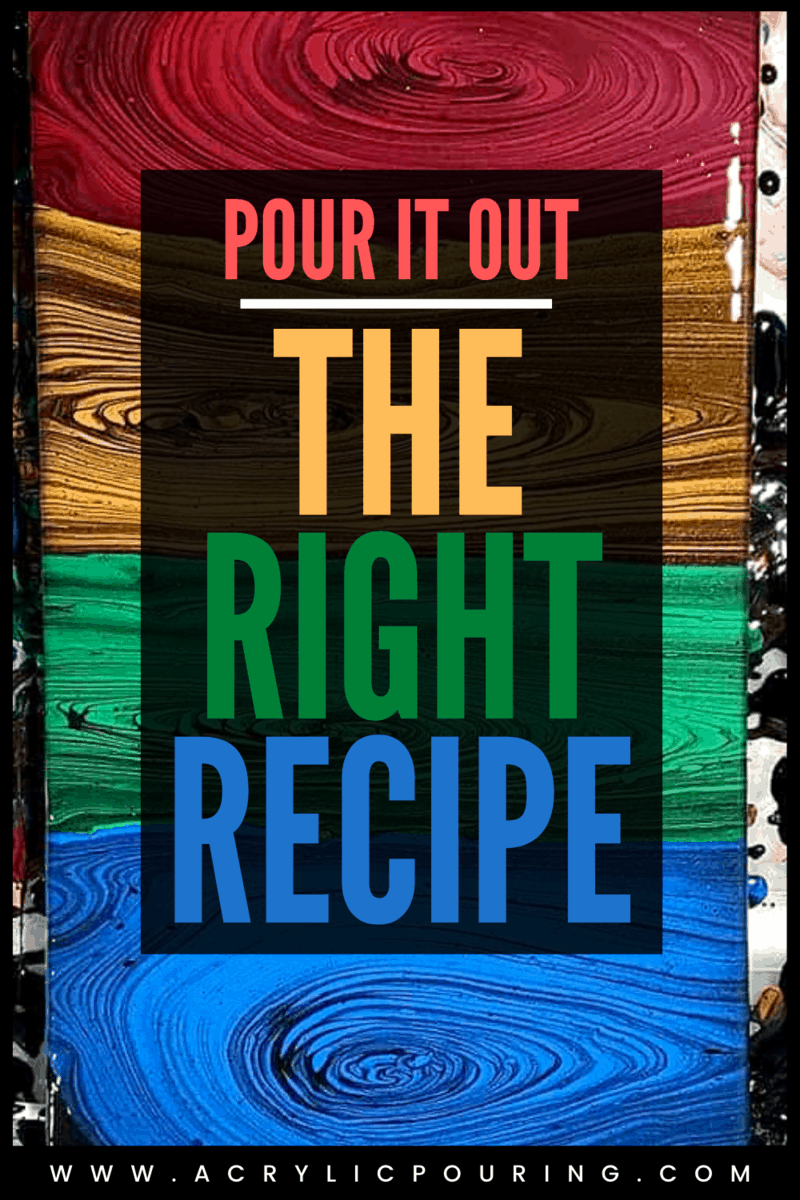 Pour it Out: The Right Recipe