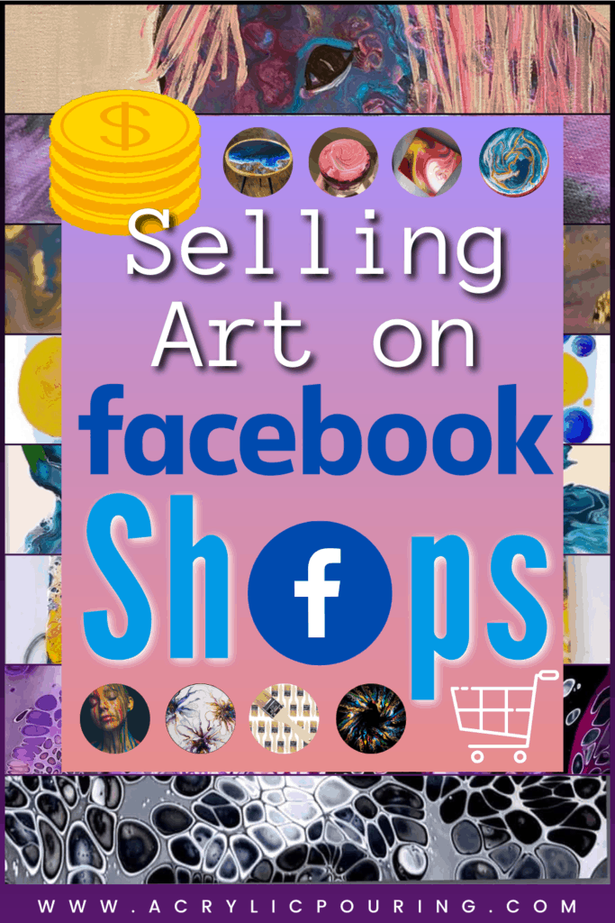 Nowadays, everyone has a Facebook account. Wouldn't it be great if you could use Facebook to sell your artworks conveniently all from inside Facebook or we called it Facebook Shops? This new feature allows you to set up an E-Commerce shop from right inside Facebook. From there you can invite our friends and give buyers a cart-like shopping experience. In this article, I'm going to explain exactly how to set up your Facebook Shop so that you can begin selling your Art today! It's easy! #socialmedia #acrylicpouring #artandbusiness #businesstips #marketing #fluidart #fluidartpainting